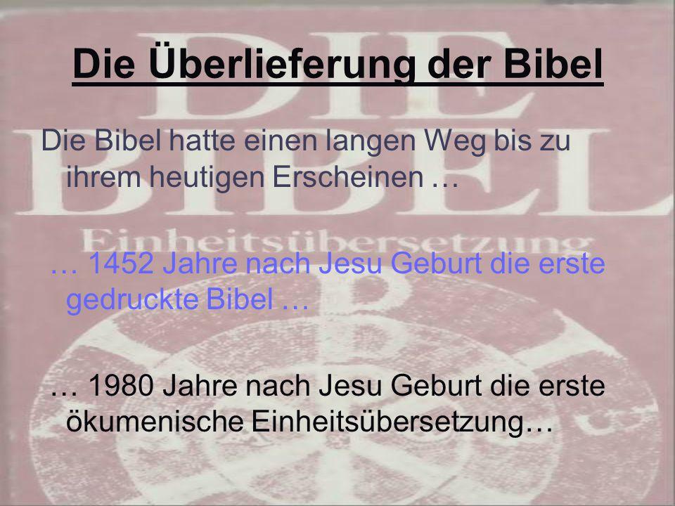 Die Überlieferung der Bibel
