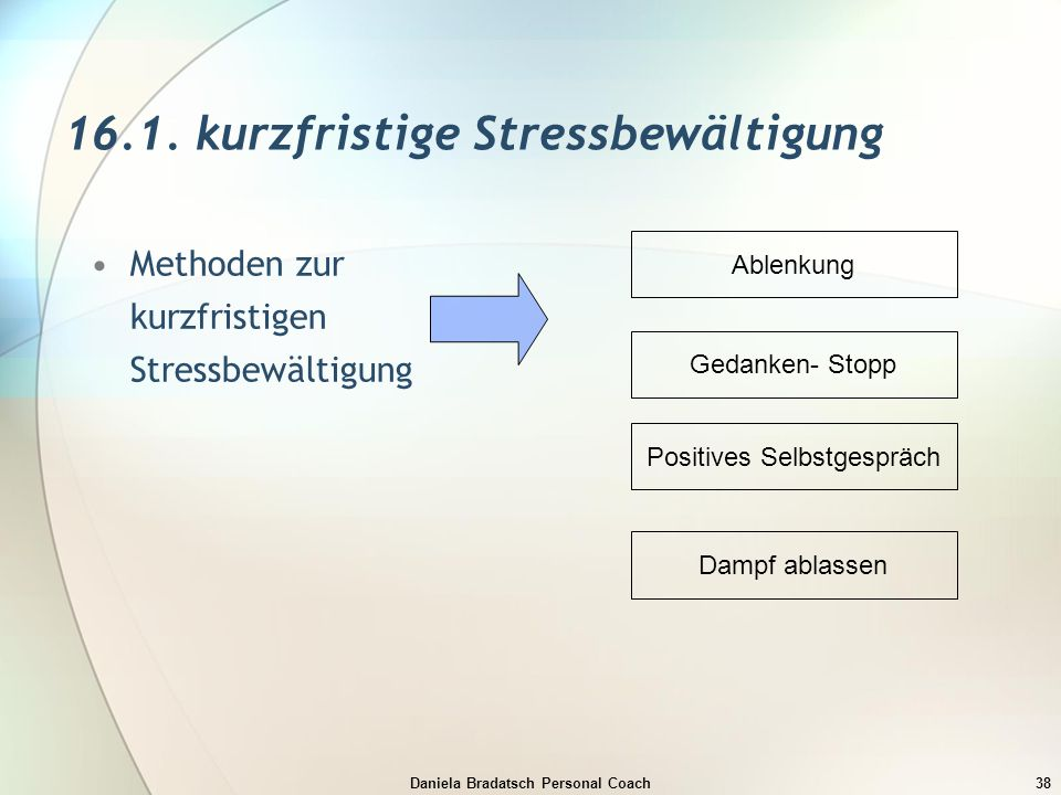 16.1. kurzfristige Stressbewältigung