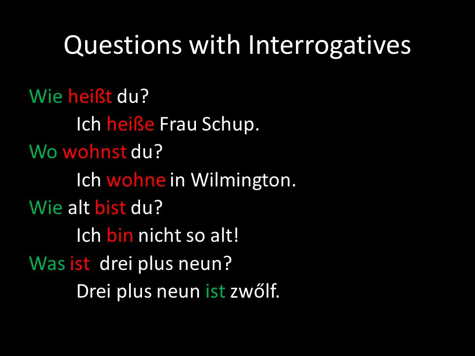 Questions with Interrogatives
