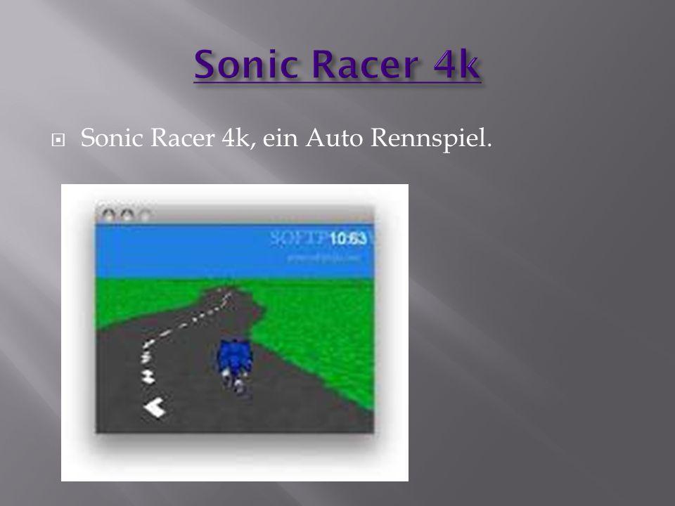 Sonic Racer 4k Sonic Racer 4k, ein Auto Rennspiel.