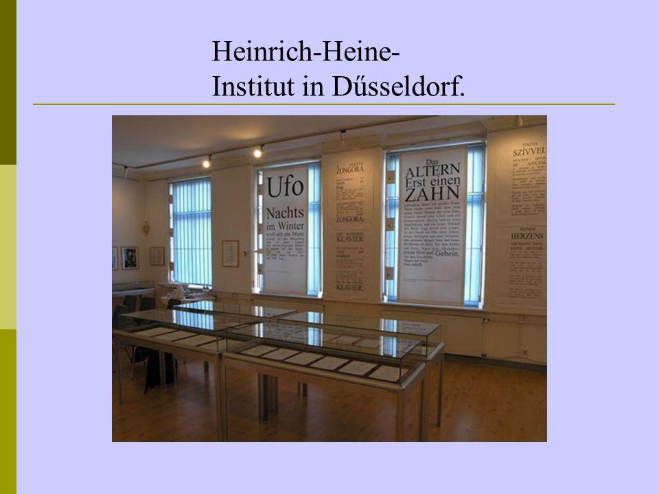 Heinrich-Heine-Institut in Dűsseldorf.
