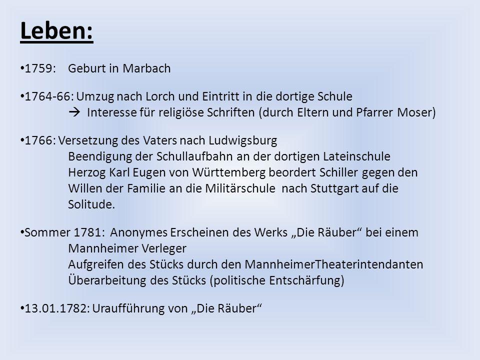 Leben: 1759: Geburt in Marbach