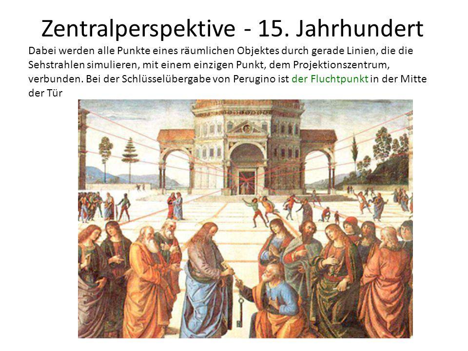 Zentralperspektive - 15. Jahrhundert