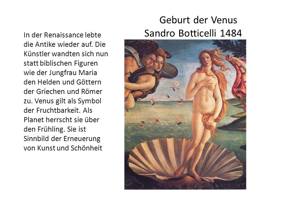Geburt der Venus Sandro Botticelli 1484