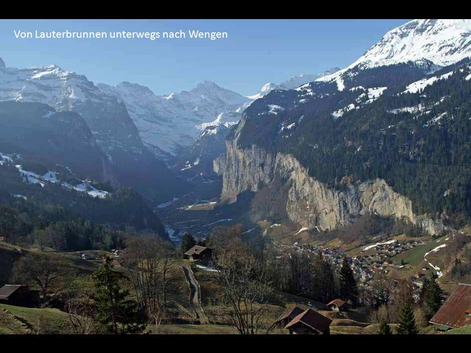 Von Lauterbrunnen unterwegs nach Wengen