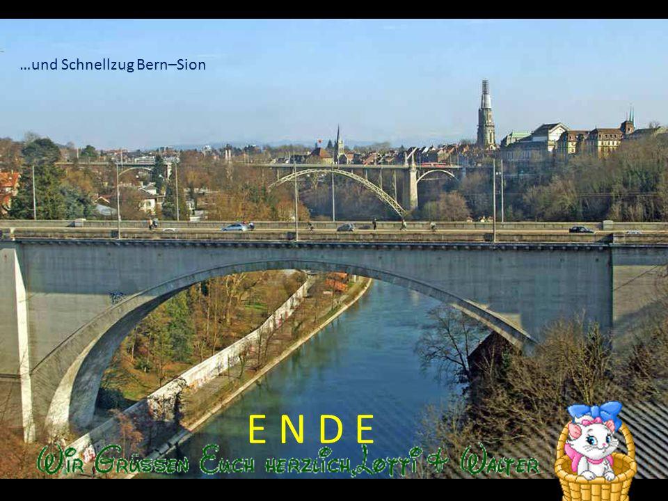 …und Schnellzug Bern–Sion
