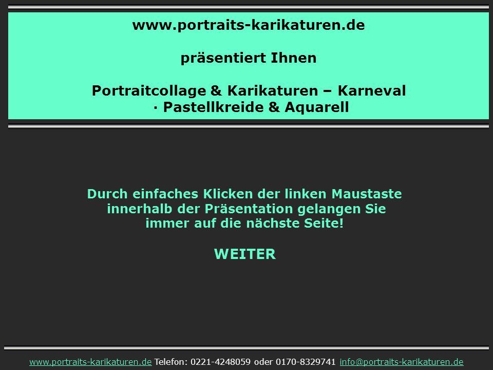 Portraitcollage & Karikaturen – Karneval · Pastellkreide & Aquarell