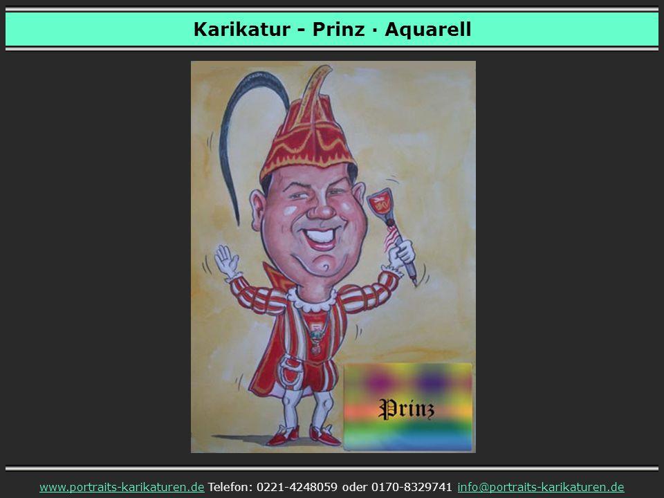 Karikatur - Prinz · Aquarell