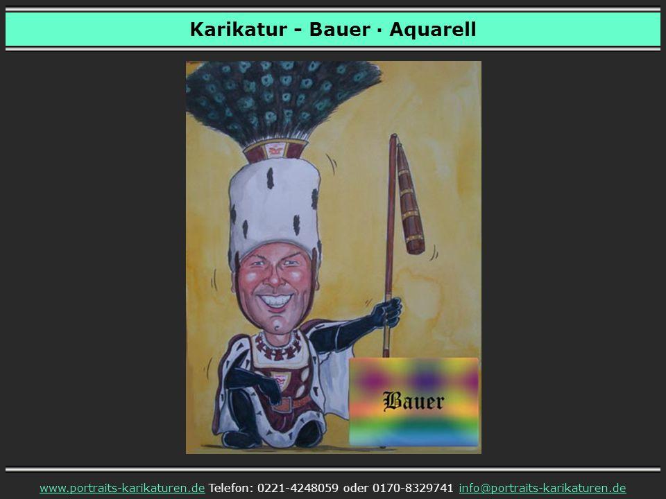 Karikatur - Bauer · Aquarell