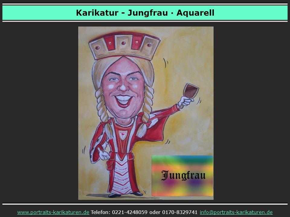 Karikatur - Jungfrau · Aquarell