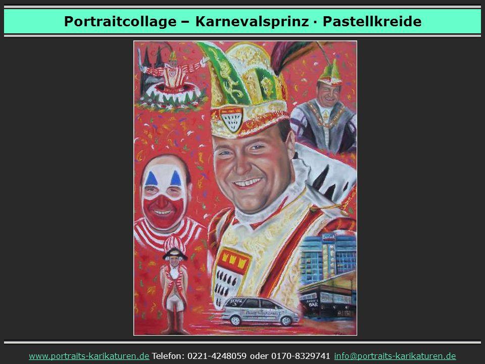 Portraitcollage – Karnevalsprinz · Pastellkreide
