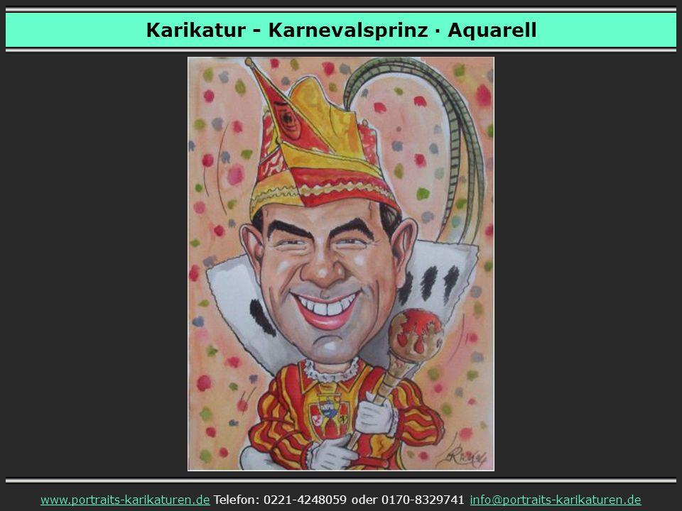Karikatur - Karnevalsprinz · Aquarell