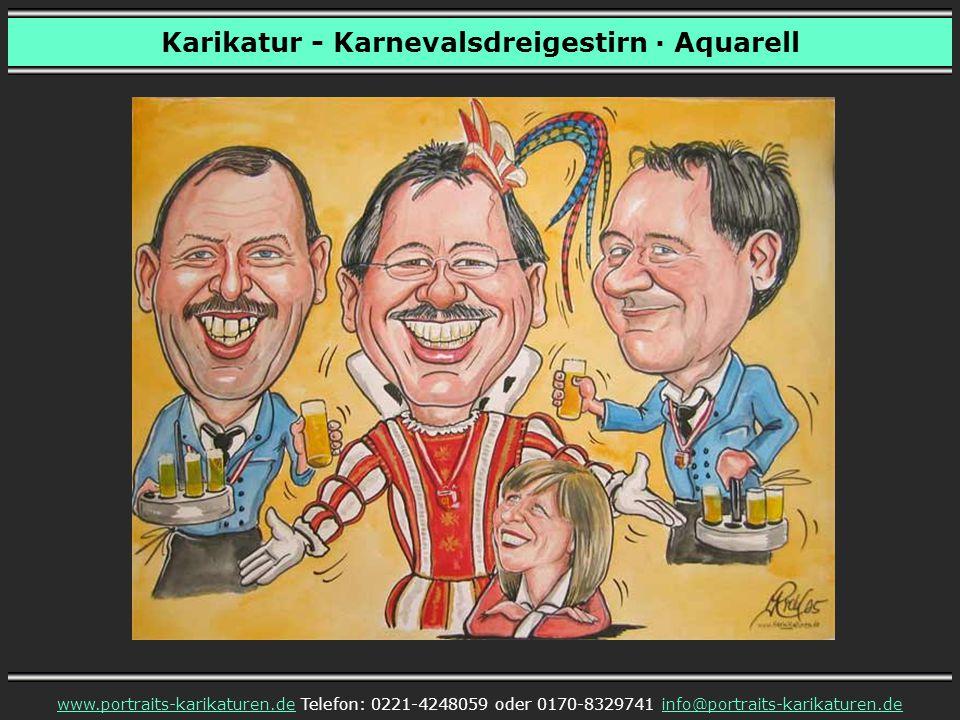 Karikatur - Karnevalsdreigestirn · Aquarell