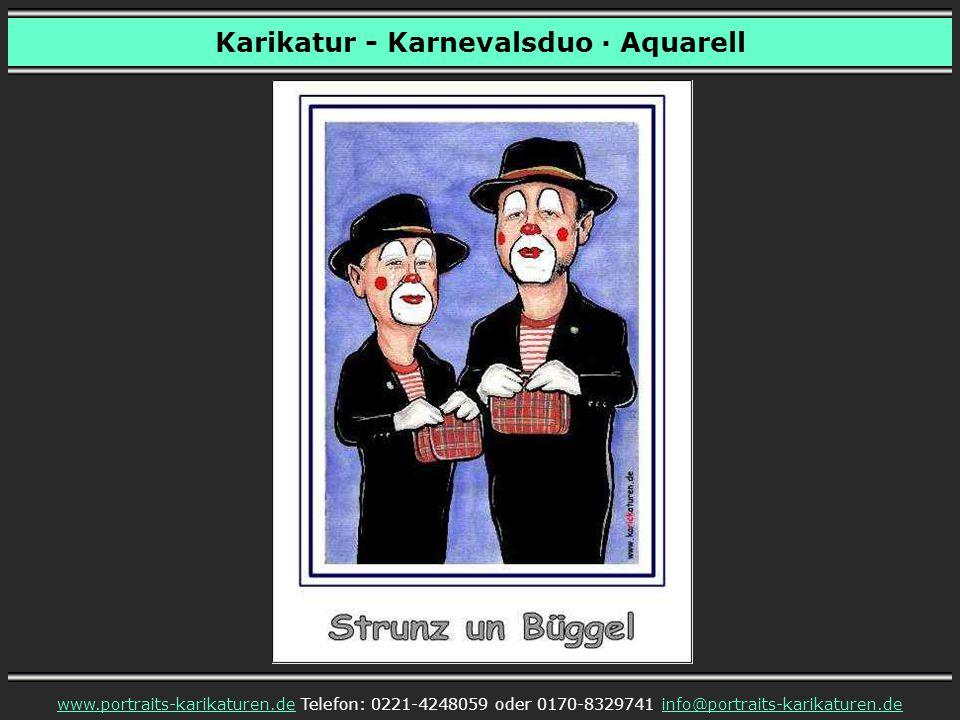 Karikatur - Karnevalsduo · Aquarell