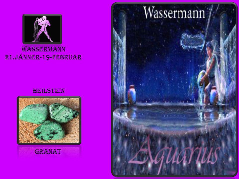 Wassermann 21.jänner-19-februar Heilstein granat