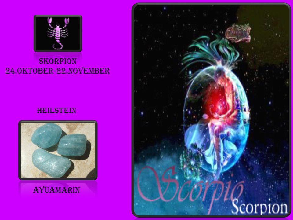 Skorpion 24.oktober-22.november heilstein ayuamarin