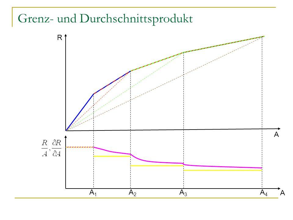 Grenz- und Durchschnittsprodukt