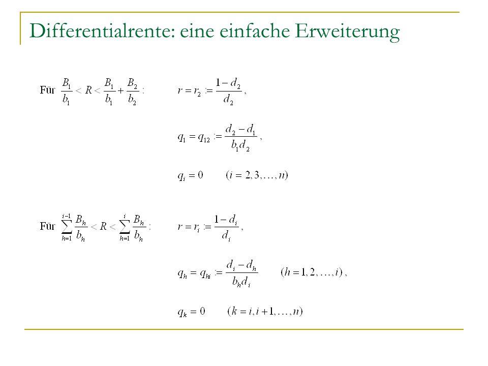 Differentialrente: eine einfache Erweiterung