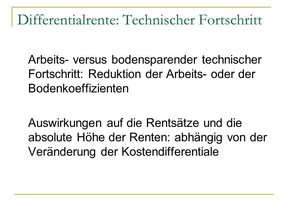 Differentialrente: Technischer Fortschritt
