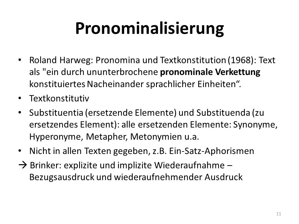 Pronominalisierung