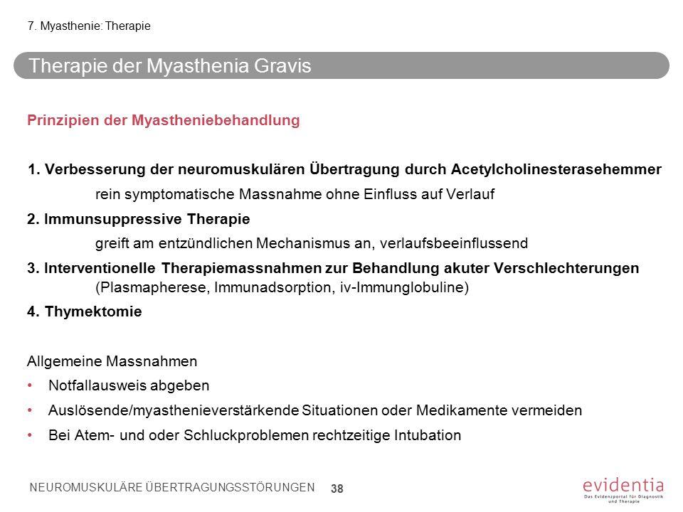 Therapie der Myasthenia Gravis