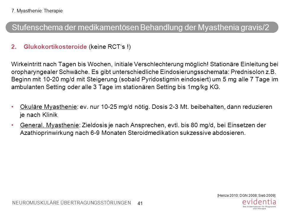 Stufenschema der medikamentösen Behandlung der Myasthenia gravis/2