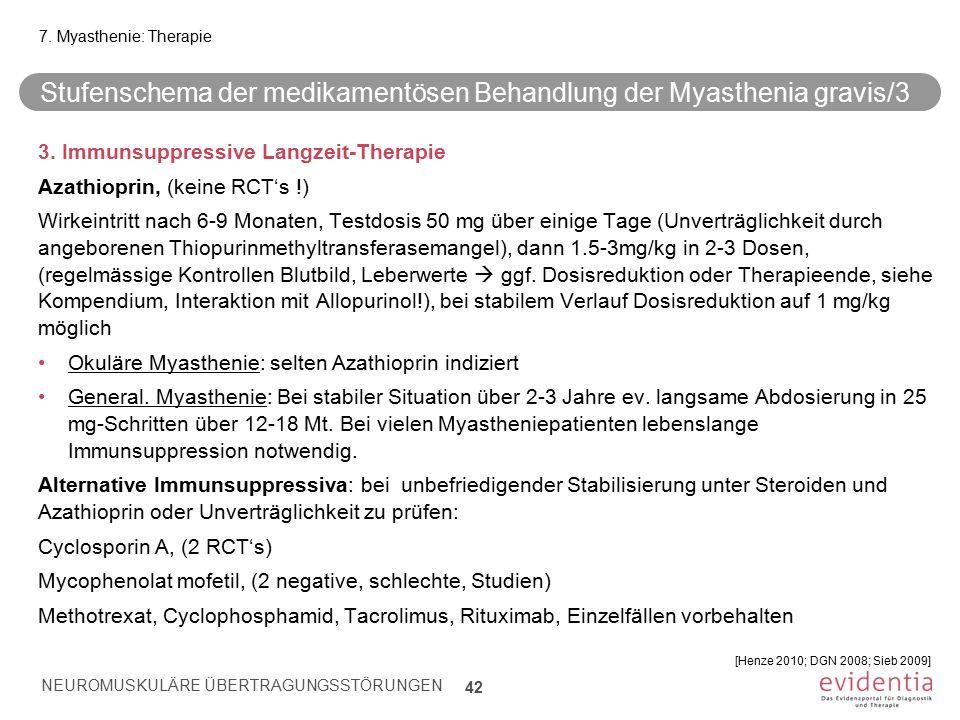 Stufenschema der medikamentösen Behandlung der Myasthenia gravis/3