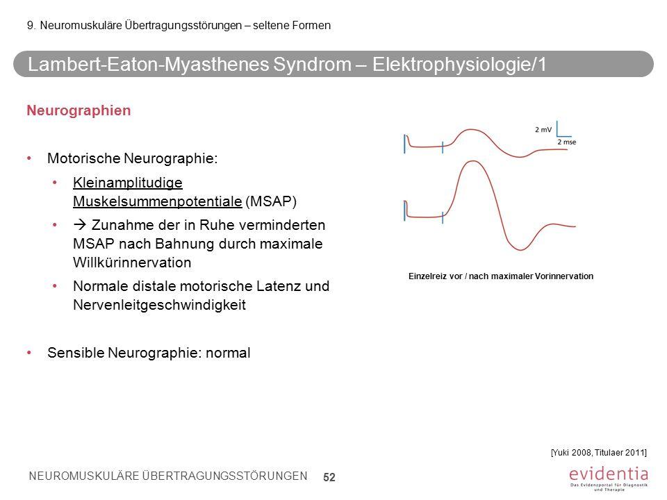 Lambert-Eaton-Myasthenes Syndrom – Elektrophysiologie/1