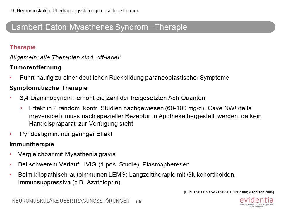 Lambert-Eaton-Myasthenes Syndrom –Therapie
