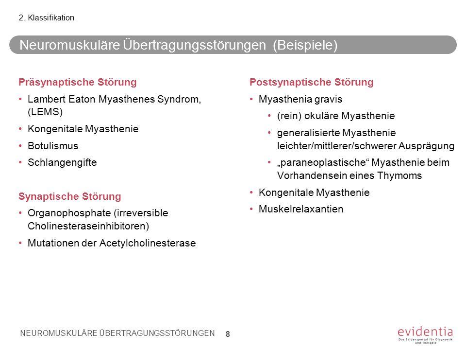 Neuromuskuläre Übertragungsstörungen (Beispiele)