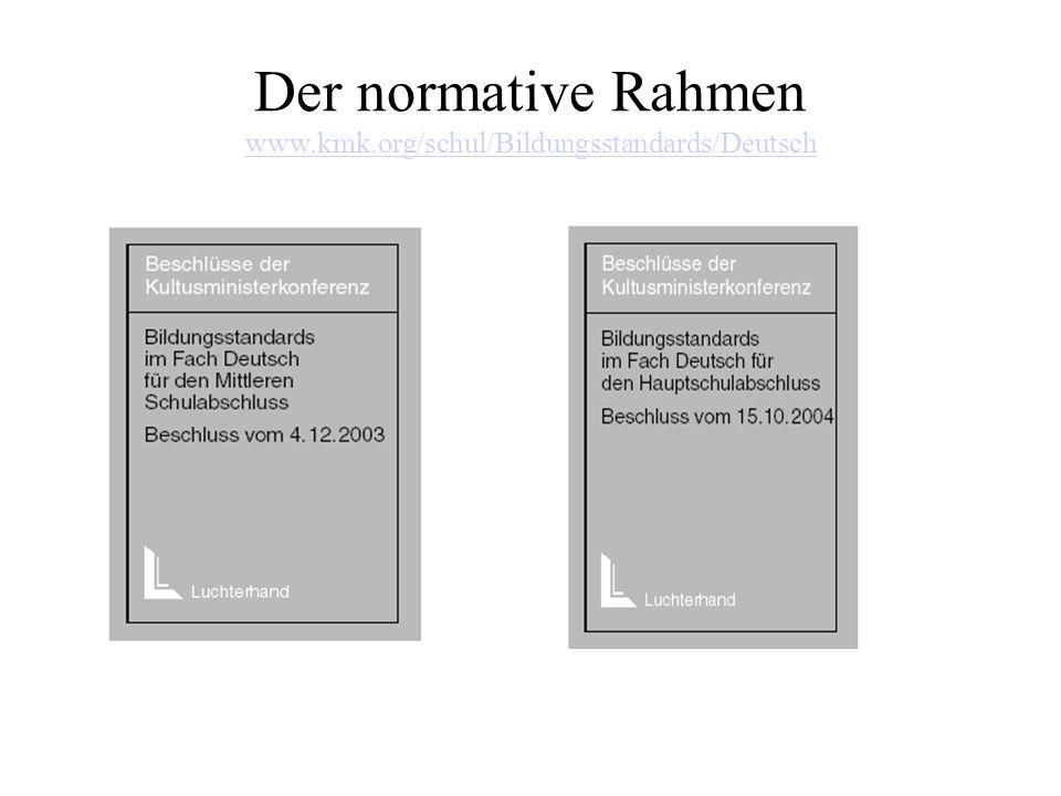 Der normative Rahmen www.kmk.org/schul/Bildungsstandards/Deutsch