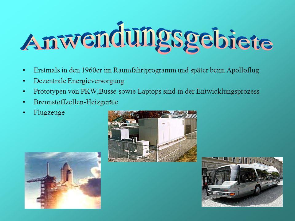 Anwendungsgebiete Erstmals in den 1960er im Raumfahrtprogramm und später beim Apolloflug. Dezentrale Energieversorgung.