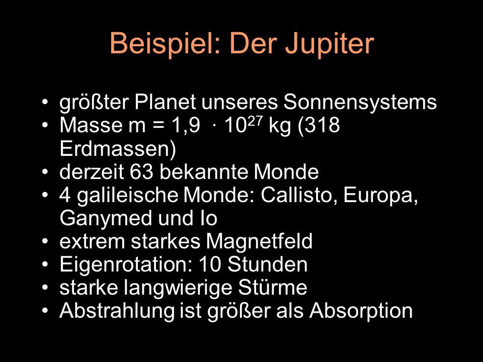 Beispiel: Der Jupiter größter Planet unseres Sonnensystems