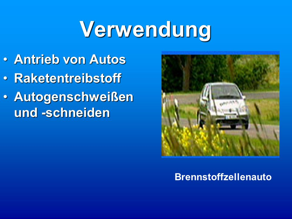 Brennstoffzellenauto
