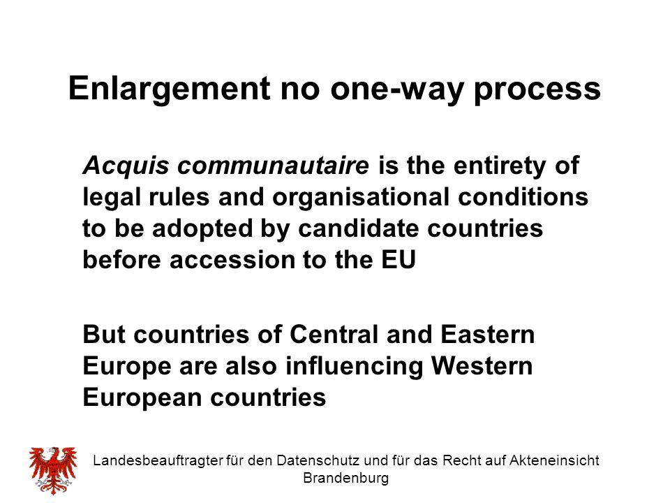 Enlargement no one-way process