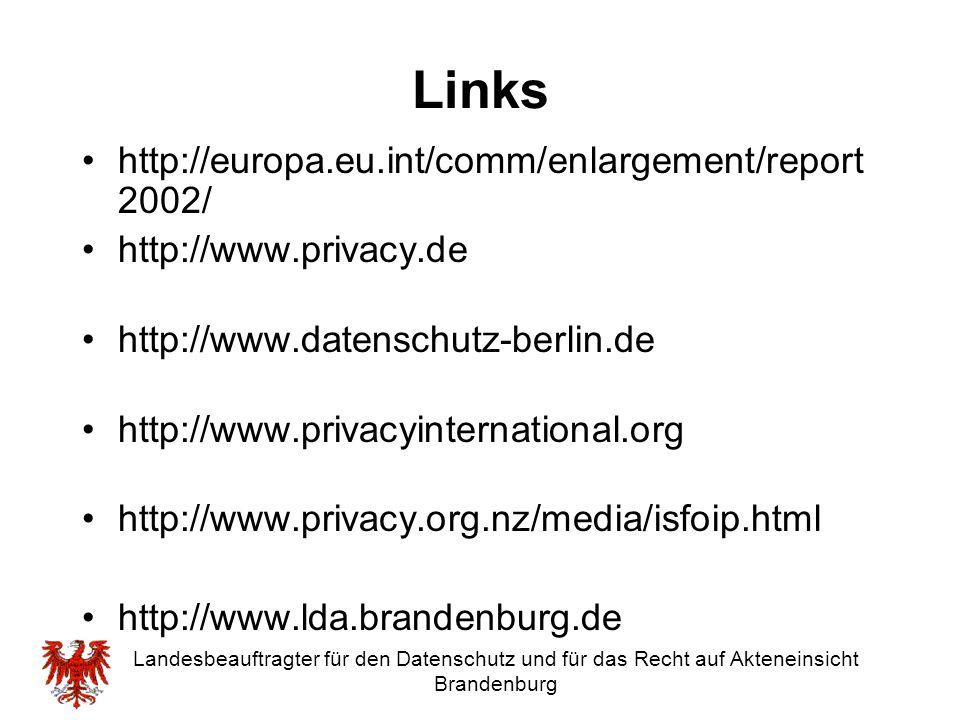 Links http://europa.eu.int/comm/enlargement/report2002/