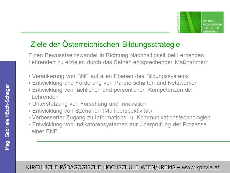 Ziele der Österreichischen Bildungsstrategie
