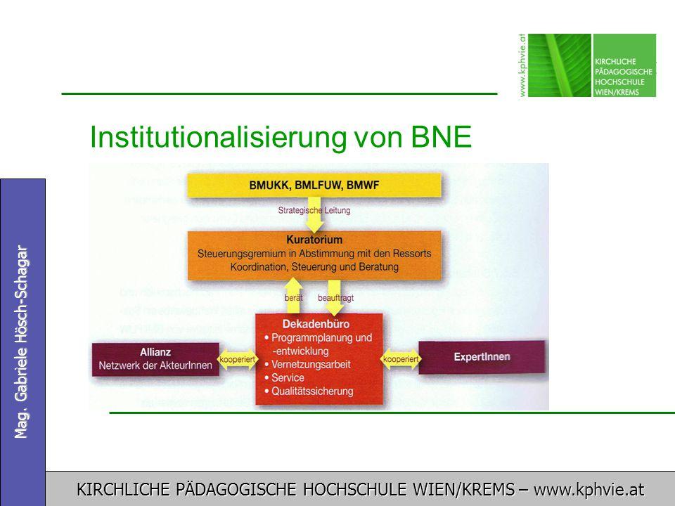 Institutionalisierung von BNE