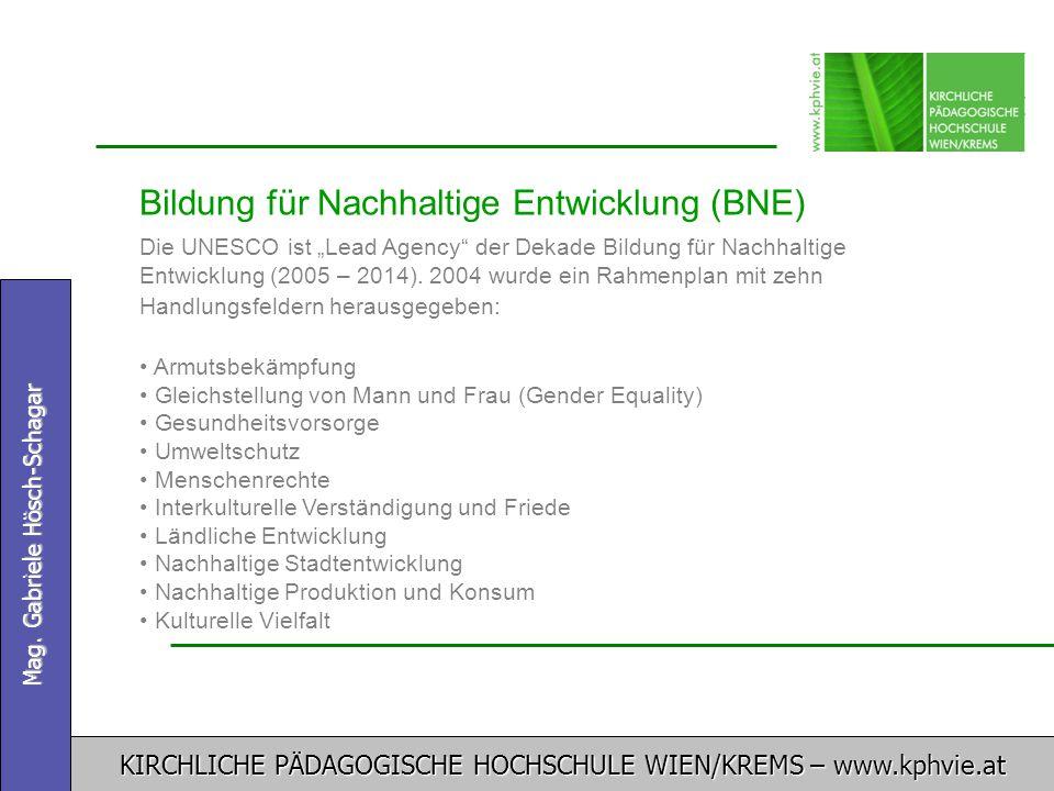 Bildung für Nachhaltige Entwicklung (BNE)