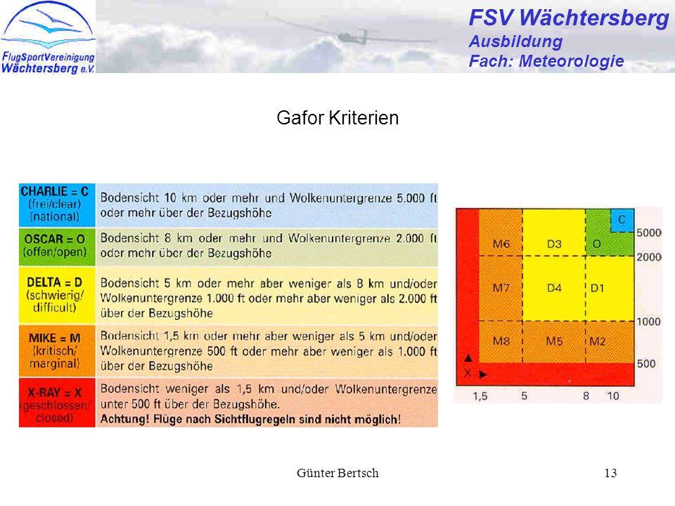 FSV Wächtersberg Gafor Kriterien Ausbildung Fach: Meteorologie