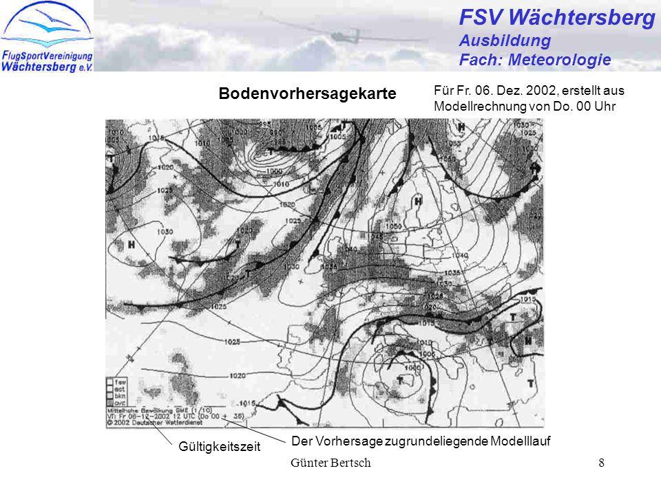 FSV Wächtersberg Ausbildung Fach: Meteorologie Bodenvorhersagekarte