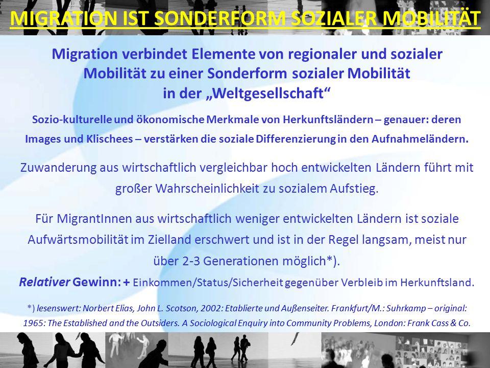 MIGRATION IST SONDERFORM SOZIALER MOBILITÄT
