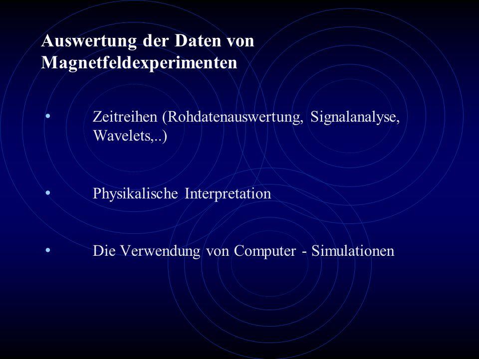 Auswertung der Daten von Magnetfeldexperimenten
