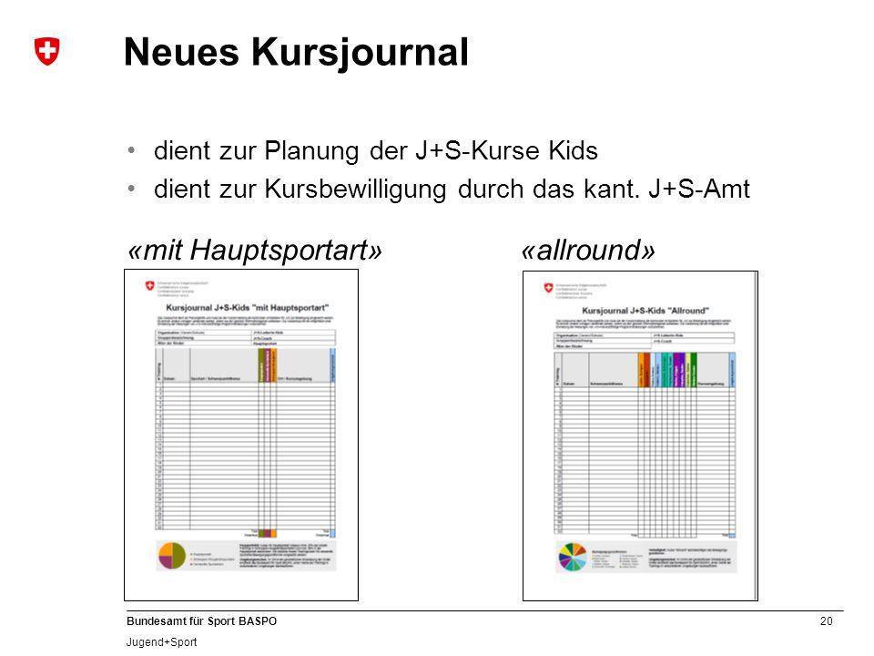 Neues Kursjournal «mit Hauptsportart» «allround»
