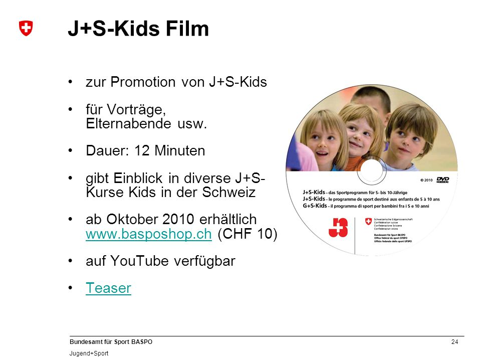 J+S-Kids Film zur Promotion von J+S-Kids