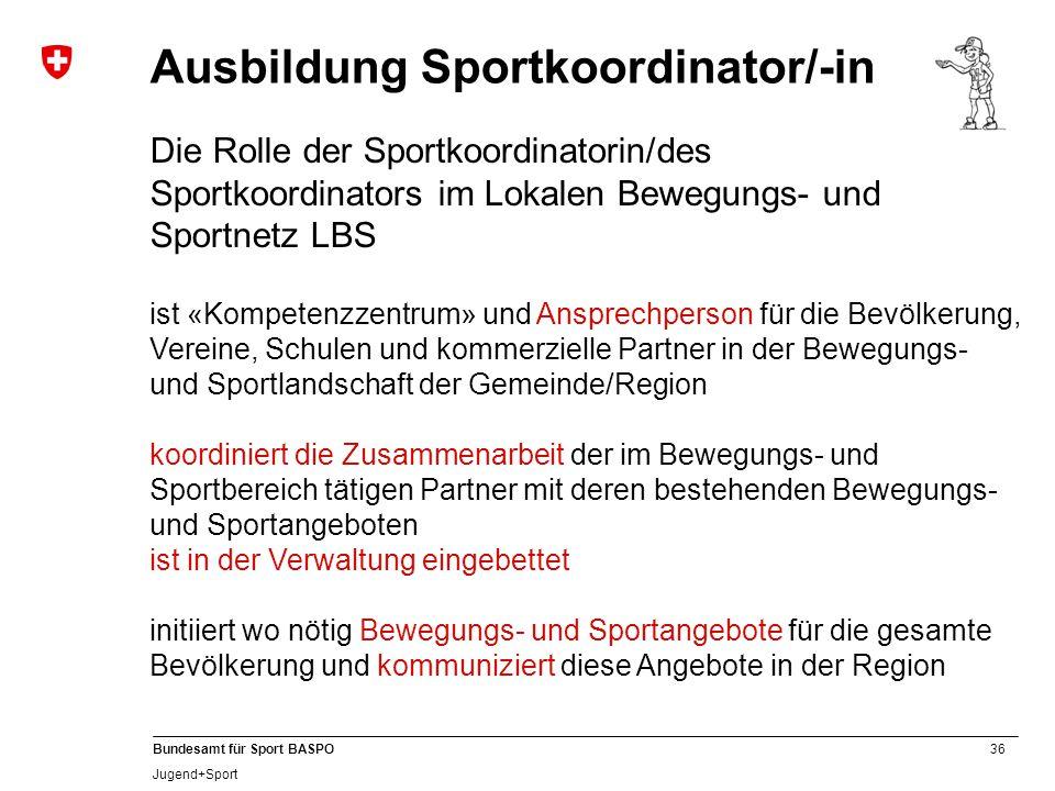 Ausbildung Sportkoordinator/-in