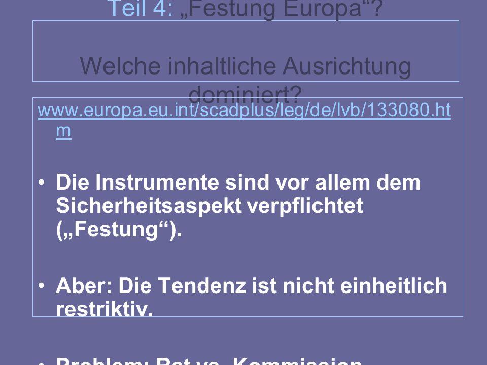 """Teil 4: """"Festung Europa Welche inhaltliche Ausrichtung dominiert"""