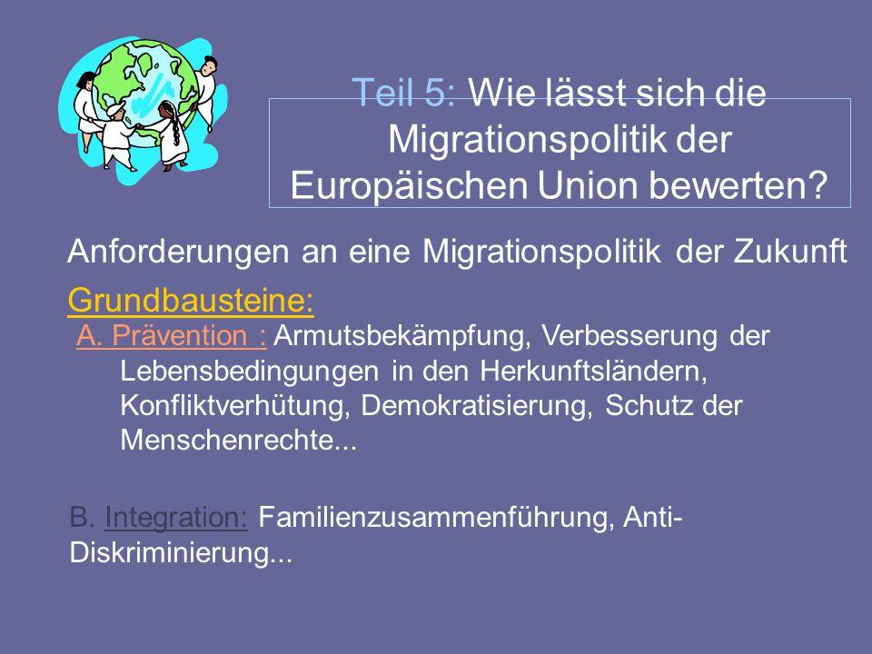 Teil 5: Wie lässt sich die Migrationspolitik der Europäischen Union bewerten