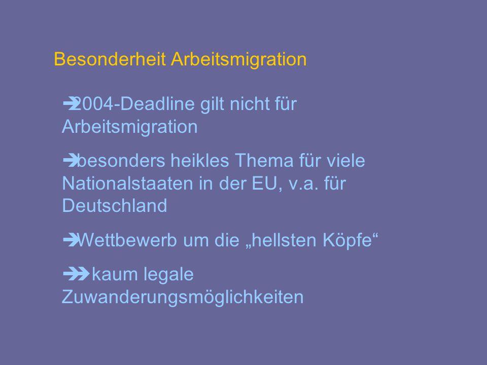 Besonderheit Arbeitsmigration