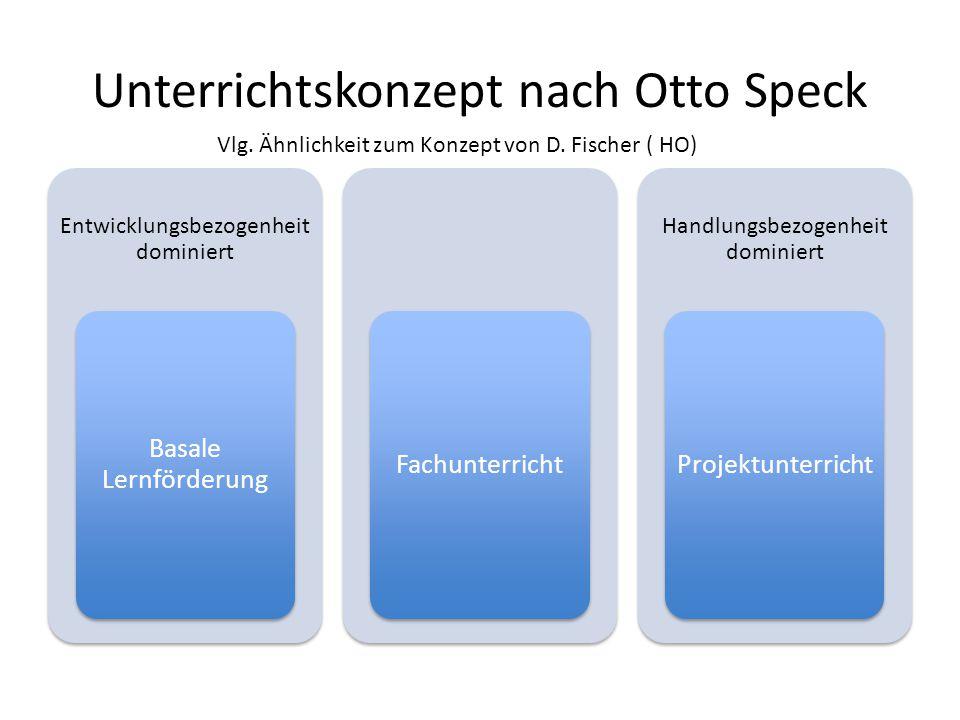 Unterrichtskonzept nach Otto Speck